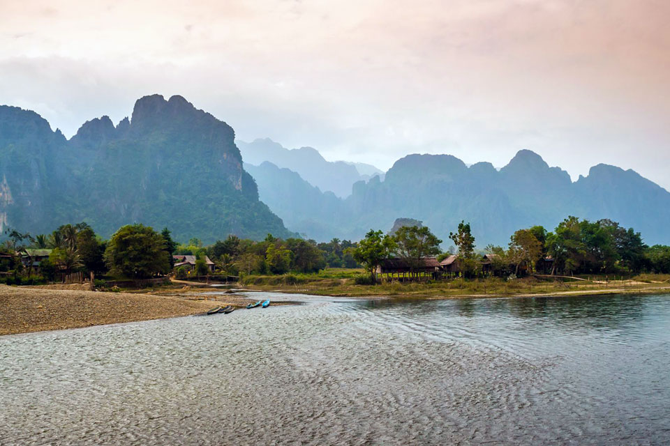 The mountains at the Nam Song River