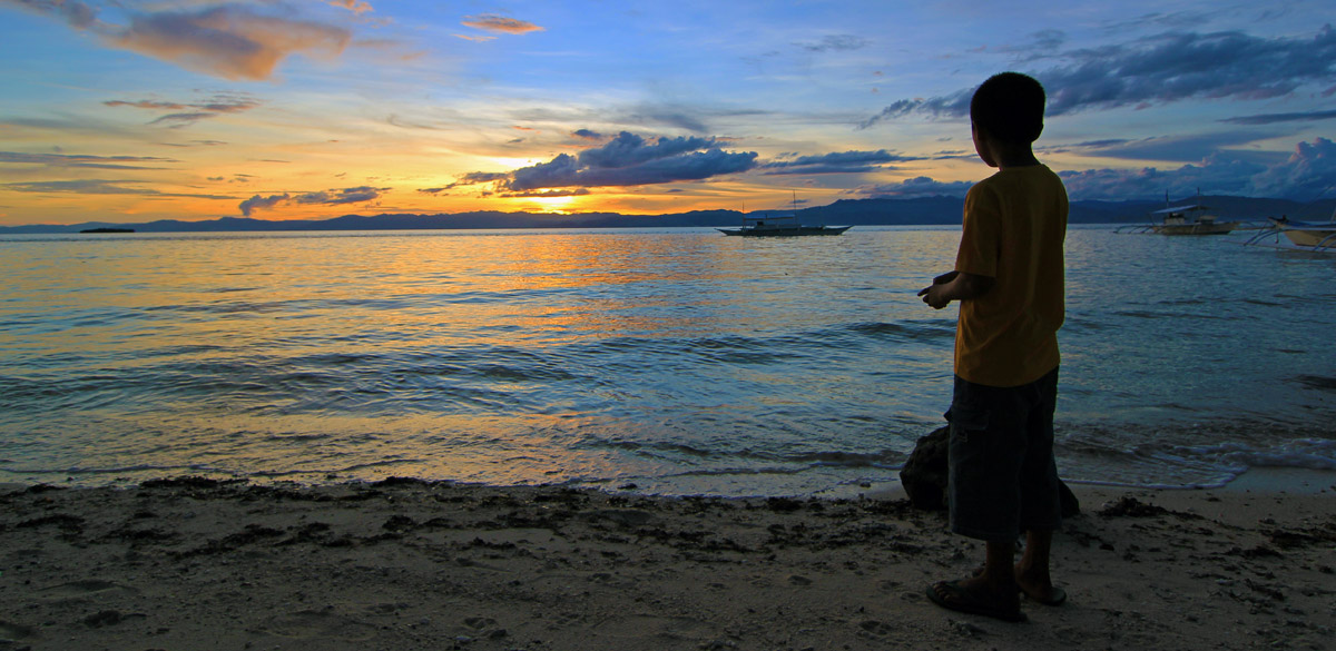 Watching the Sunset in the Philippines